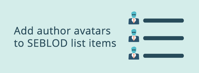 Add Author Avatars to List Items