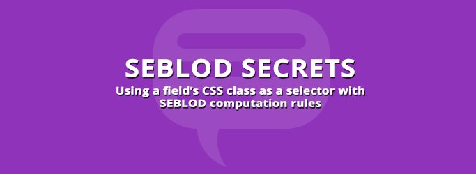 CSS Class Selector in Computation Rules